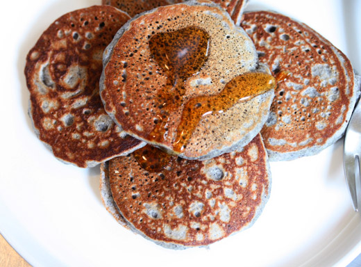 This makes about 16 3-inch pancakes, but the recipe is easily doubled